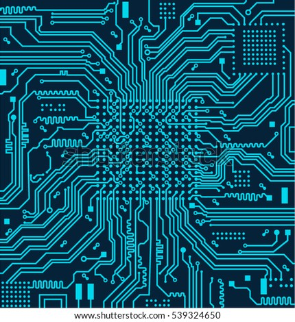 High tech circuit board vector background.