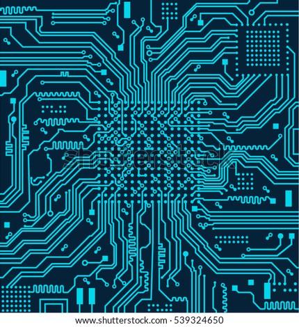 high tech circuit board vector
