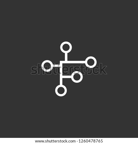 High Tech icon vector. High Tech sign on black background. High Tech icon for web and app