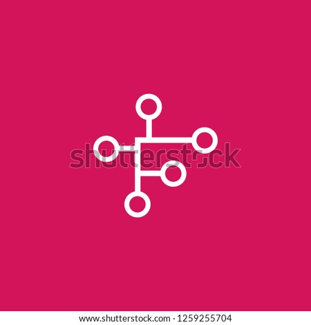 High Tech icon vector. High Tech sign on pink background. High Tech icon for web and app