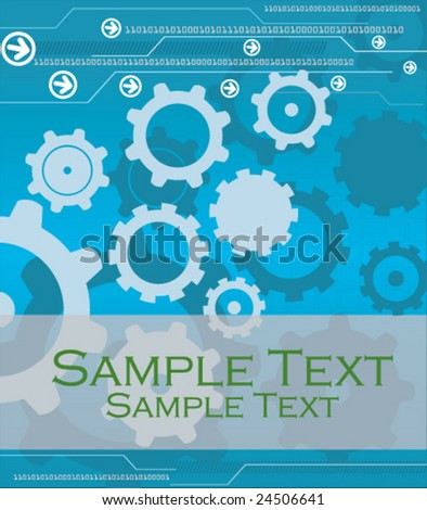 High Tech Industrial Background - stock vector