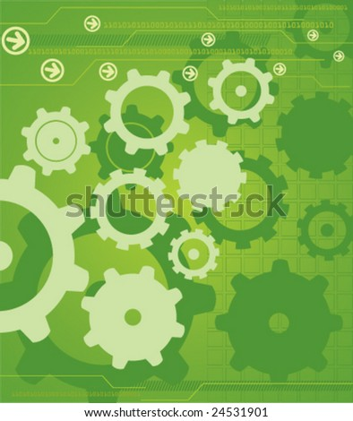 High Tech Industrial Background (JPG and Vector file versions of this image both available in my portfolio) - stock vector