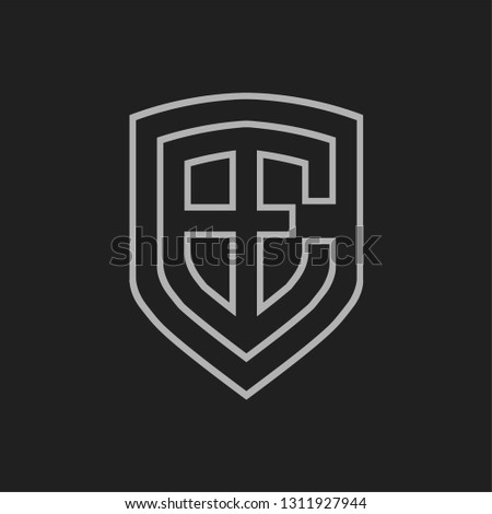 high tech initial logo design for technology company Stock fotó ©