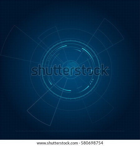 High-tech interface, the future of science and technology abstract background
