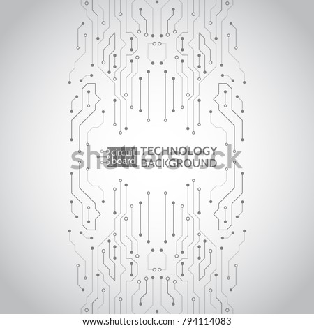 High-tech technology background texture. Circuit board vector illustration.