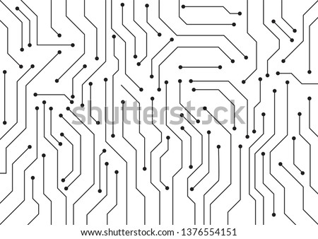 High tech technology geometric and white background with digital data abstract