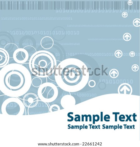 High Tech Templates Available in Green and Blue - Please do check my gallery - stock vector
