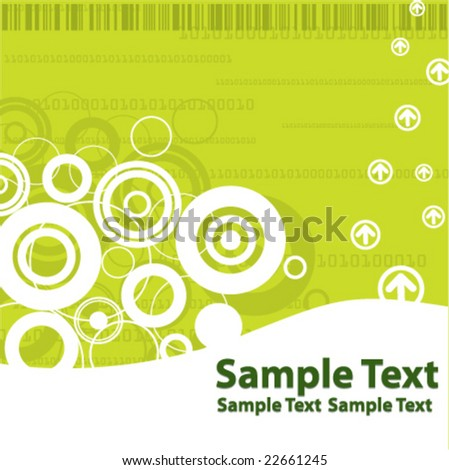 High Tech Templates - Green - stock vector