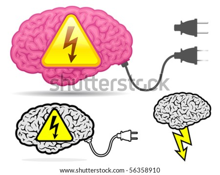 High voltage brain collection with connector plug - vector