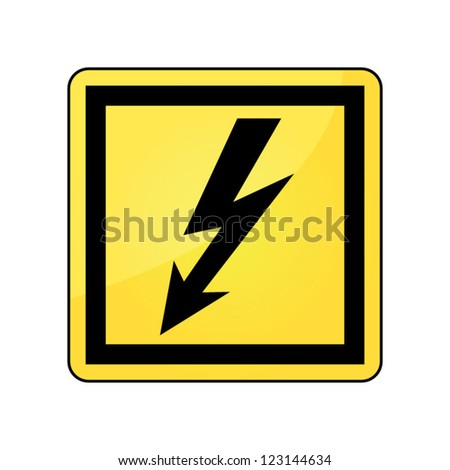 High Voltage danger sign, Symbol, icon