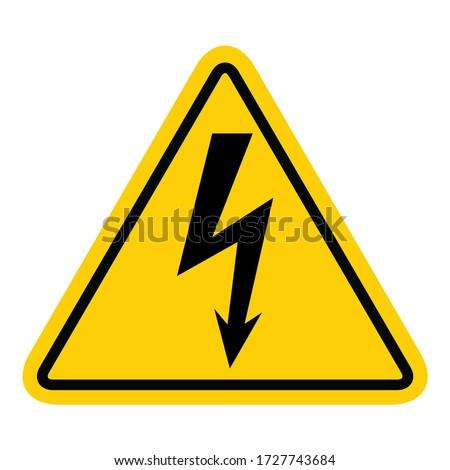 high voltage icon  danger