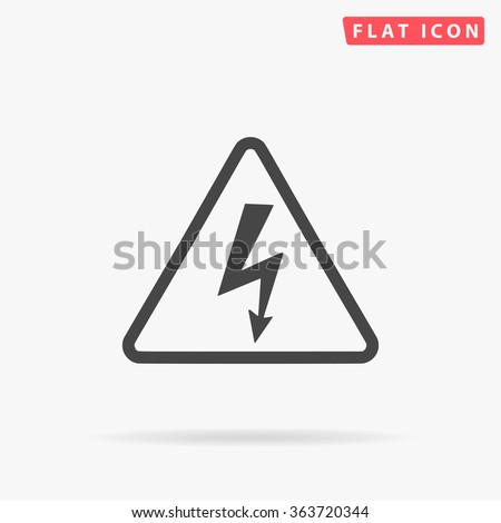 High voltage Icon Vector. Simple flat symbol. Illustration pictogram