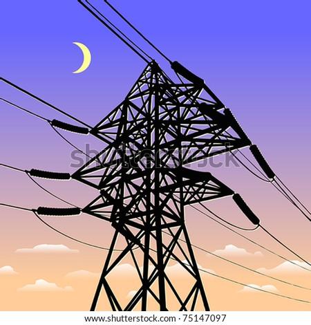 High Voltage Power Line in