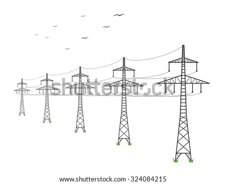 high voltage power lines and