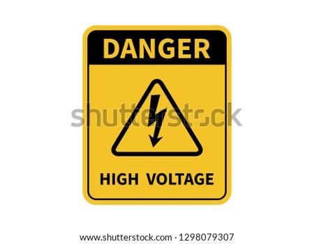 high voltage sign danger sign