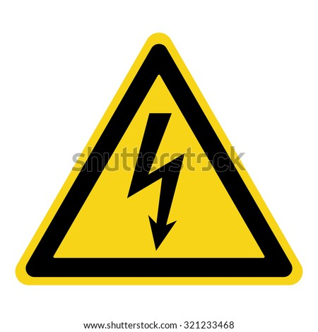 high voltage sign danger