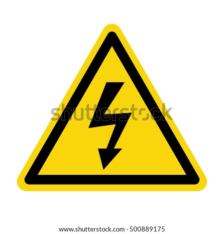 High Voltage Sign, Vector illustration