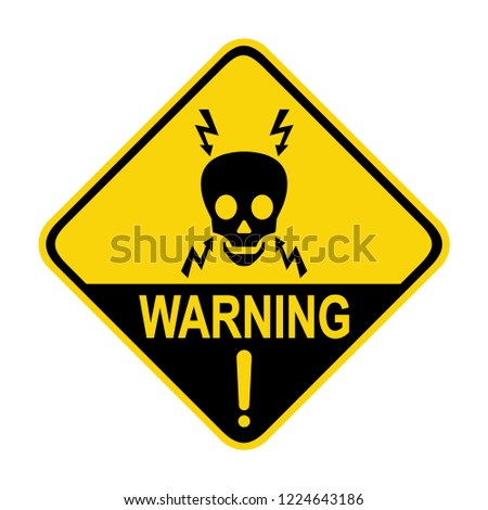 High voltage warning sign. Symbol, vector