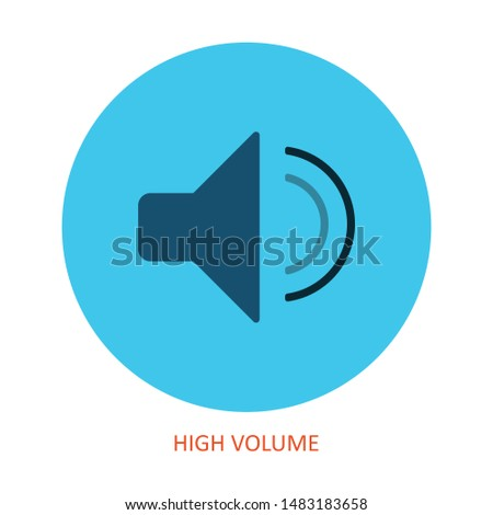 high volume icon from user interface outline collection. Thin line high volume icon isolated on white background