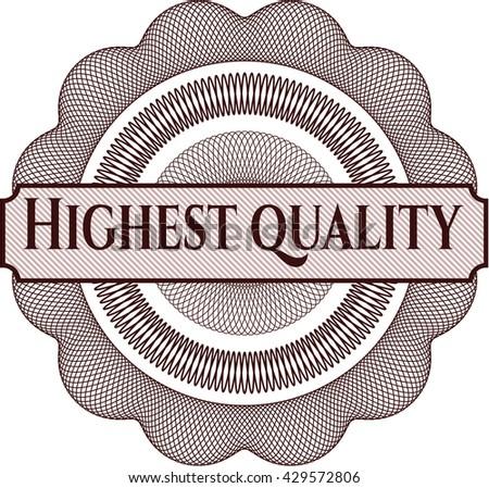 Highest Quality inside money style emblem or rosette