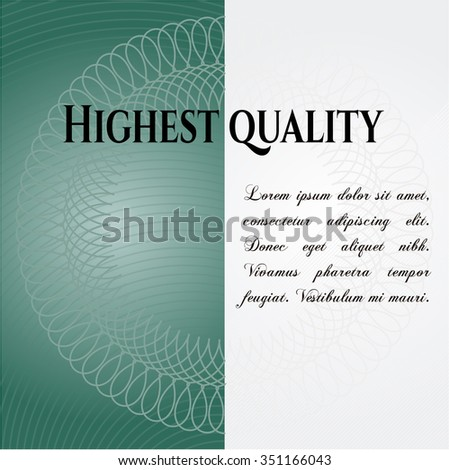 Highest Quality retro style card, banner or poster