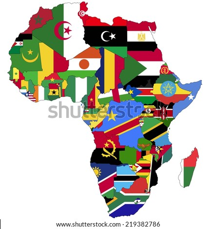 highly detailed africa map with
