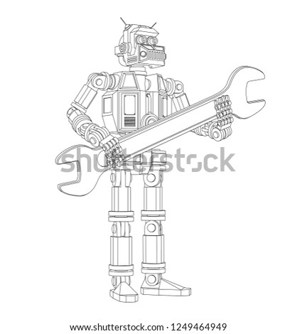 highly detailed android robot