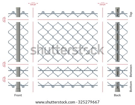 highly detailed chain link