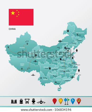 highly detailed china map