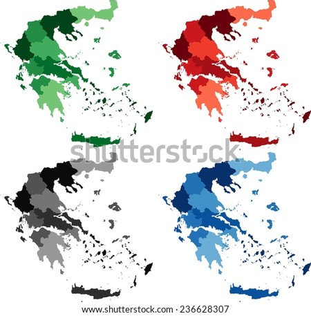 Free Vector Map of Greece Free Vector Art at Vecteezy