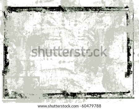 Highly detailed grunge Vector frame  with space for your text or image. Great grunge  frame for your projects