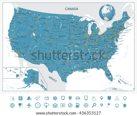 Hawaii Map Download Free Vector Art Stock Graphics Images - Us map hawaii