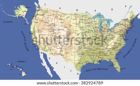 United States Map With Alaska And Hawaii.Map Alaska Hawaii Rivers Www Picturesso Com