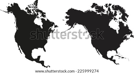 North America State Outlines Vector Map Download Free Vector Art