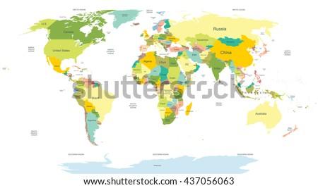 Mapa de hawaii descargue grficos y vectores gratis highly detailed political world map gumiabroncs Image collections