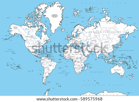 South America Map Vector Download Free Vector Art Stock - Political map of world