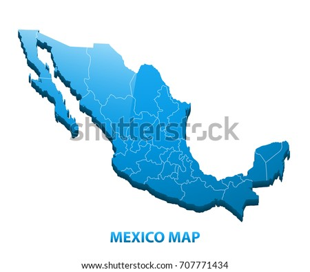Mexico Map Vector Download Free Vector Art Stock Graphics Images - Mexico regions map