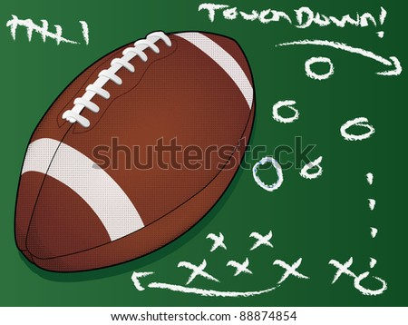 Highly detailed vector football/Football Touchdown/American Football