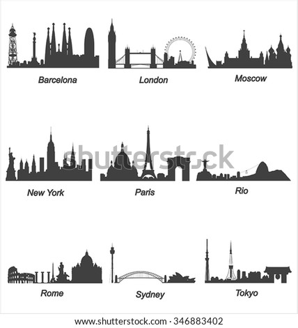 highly detailed world cities