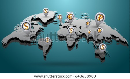 World Currency Vector Download Free Vector Art Stock Graphics