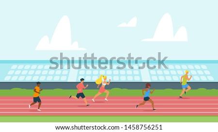 highschool students running