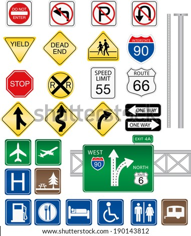 Highway and Road Signs