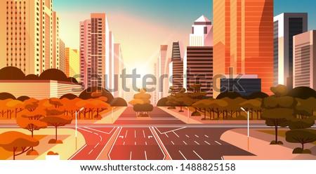 highway asphalt road with