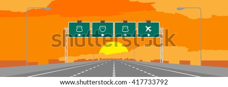 highway or motorway and green