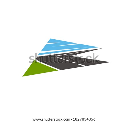 highway  road isolated vector