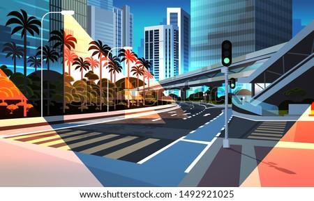 highway road night city street