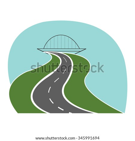 highway road passes under the