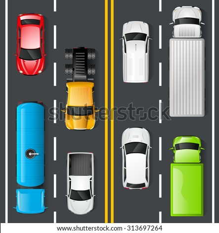 highway traffic concept with