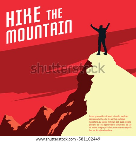 hiking and mountaineering poster