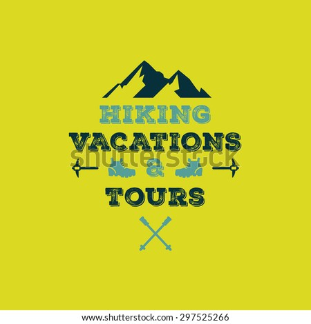 hiking vacations   tours vector
